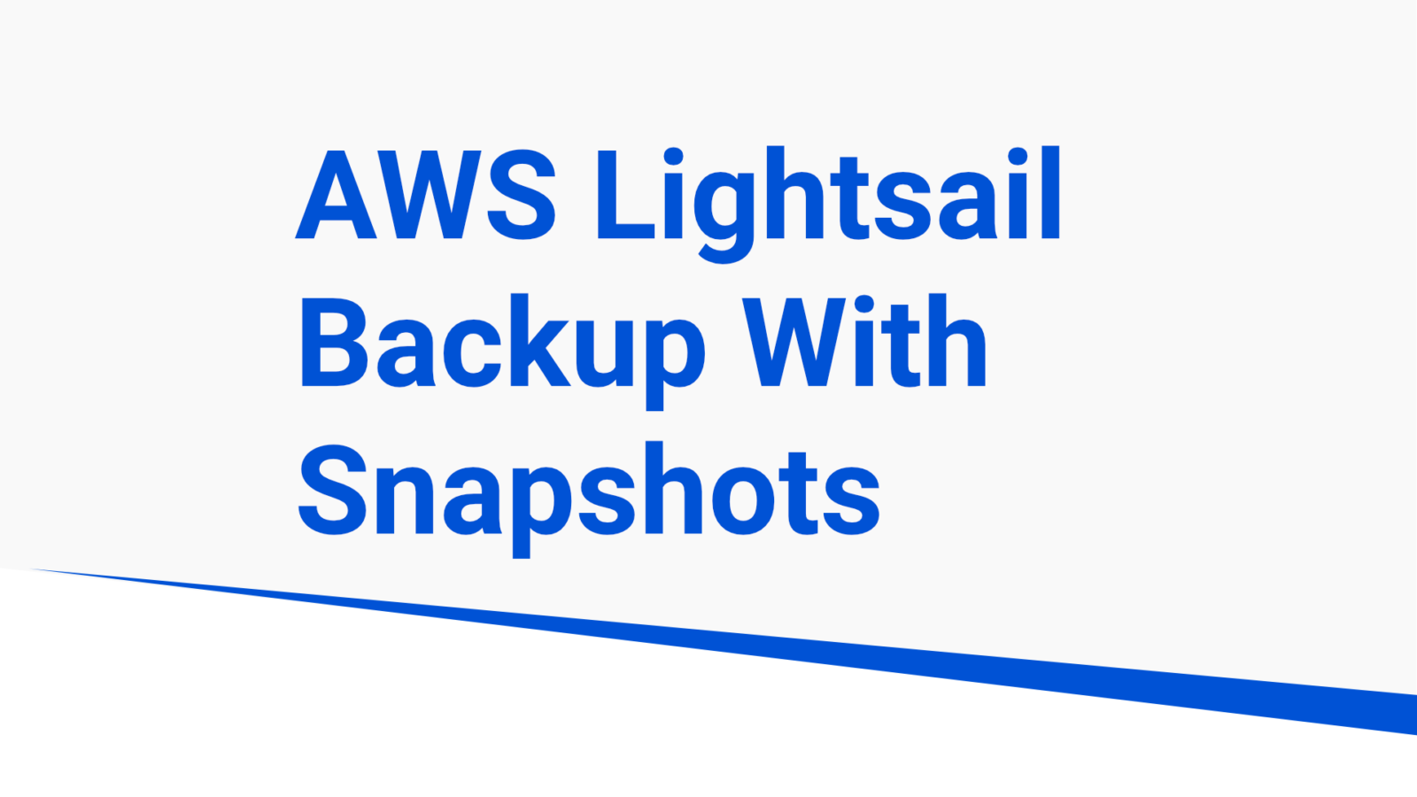 snapshots on aws lightsail
