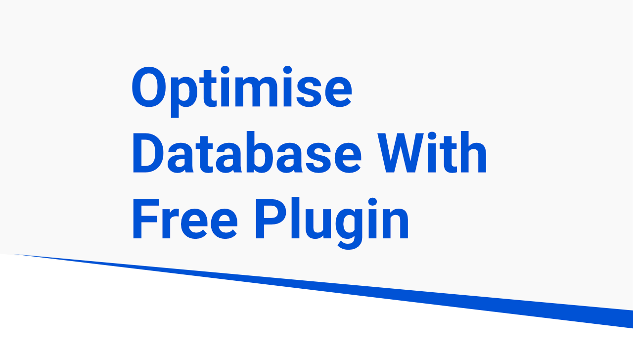 Optimize Database