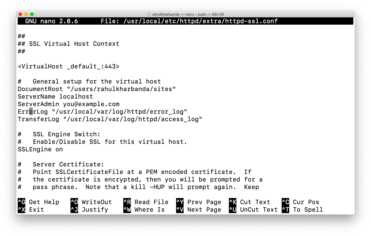 installing ssl on localhost