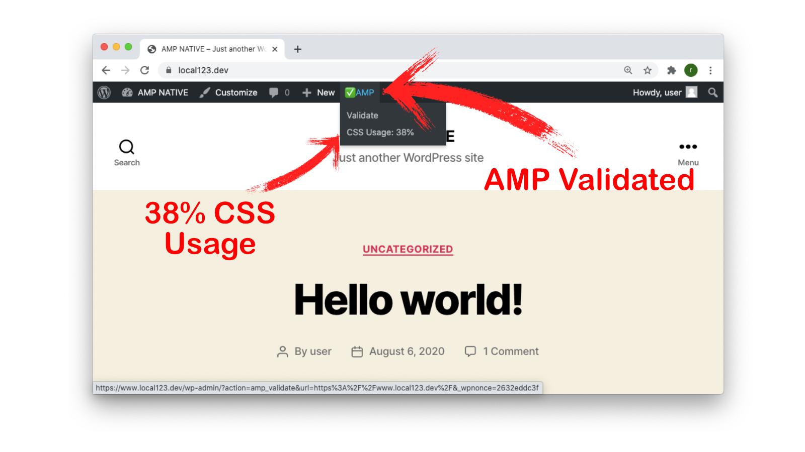 amp native on wordpress