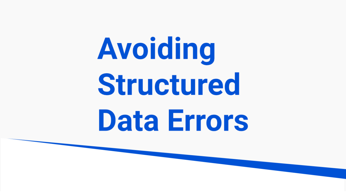 no structured data errors on amp