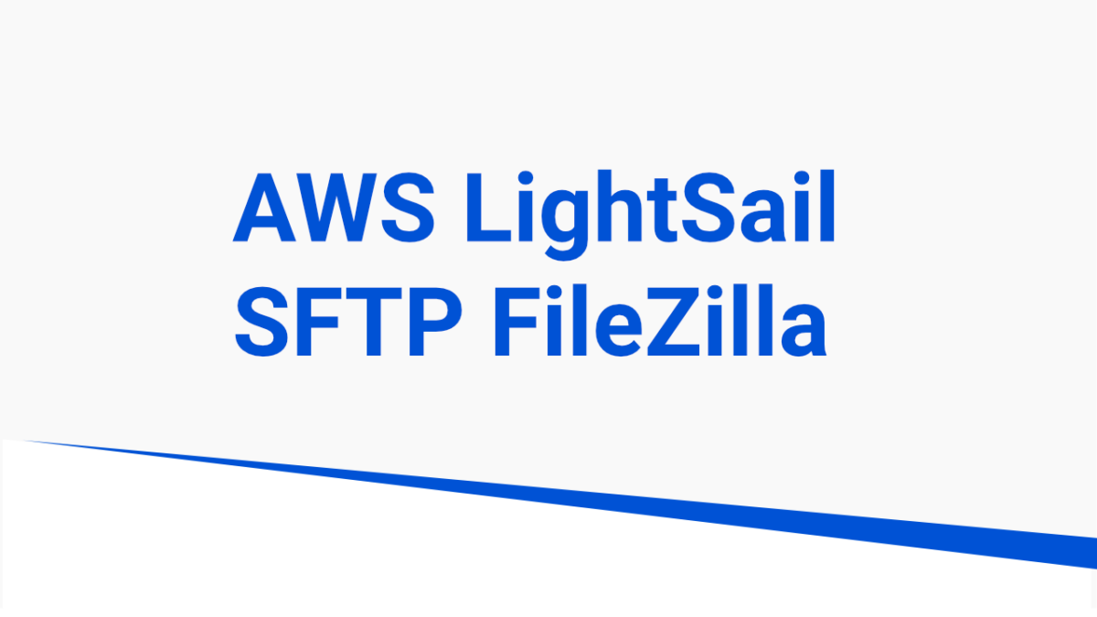connecting lightsail to filezilla