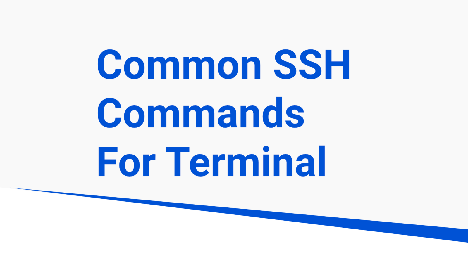 common ssh commands