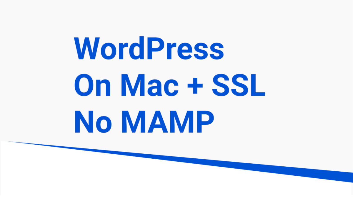 wordpress on macos