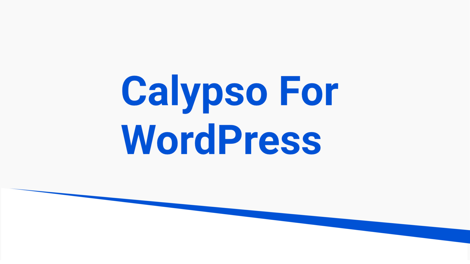 calypso for wordpress