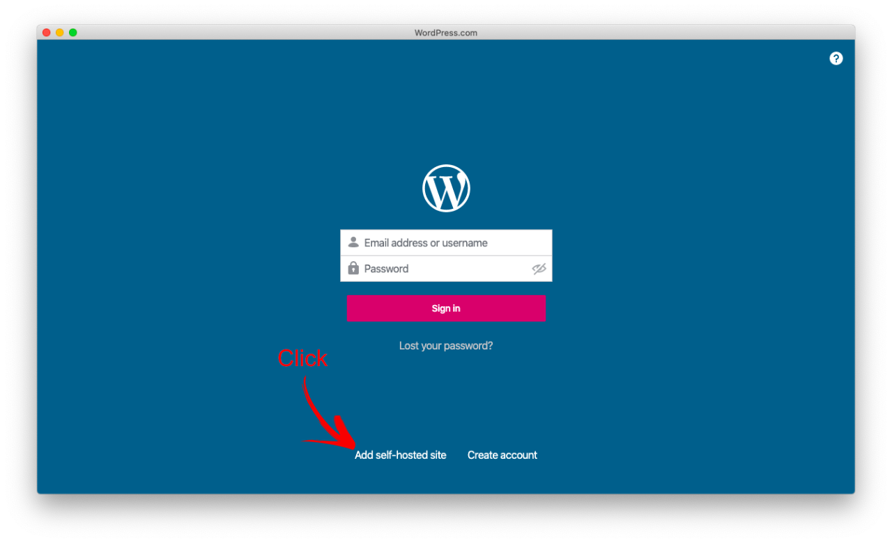 self hosted wordpress