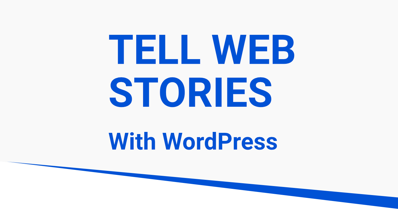 Web Stories For WordPress