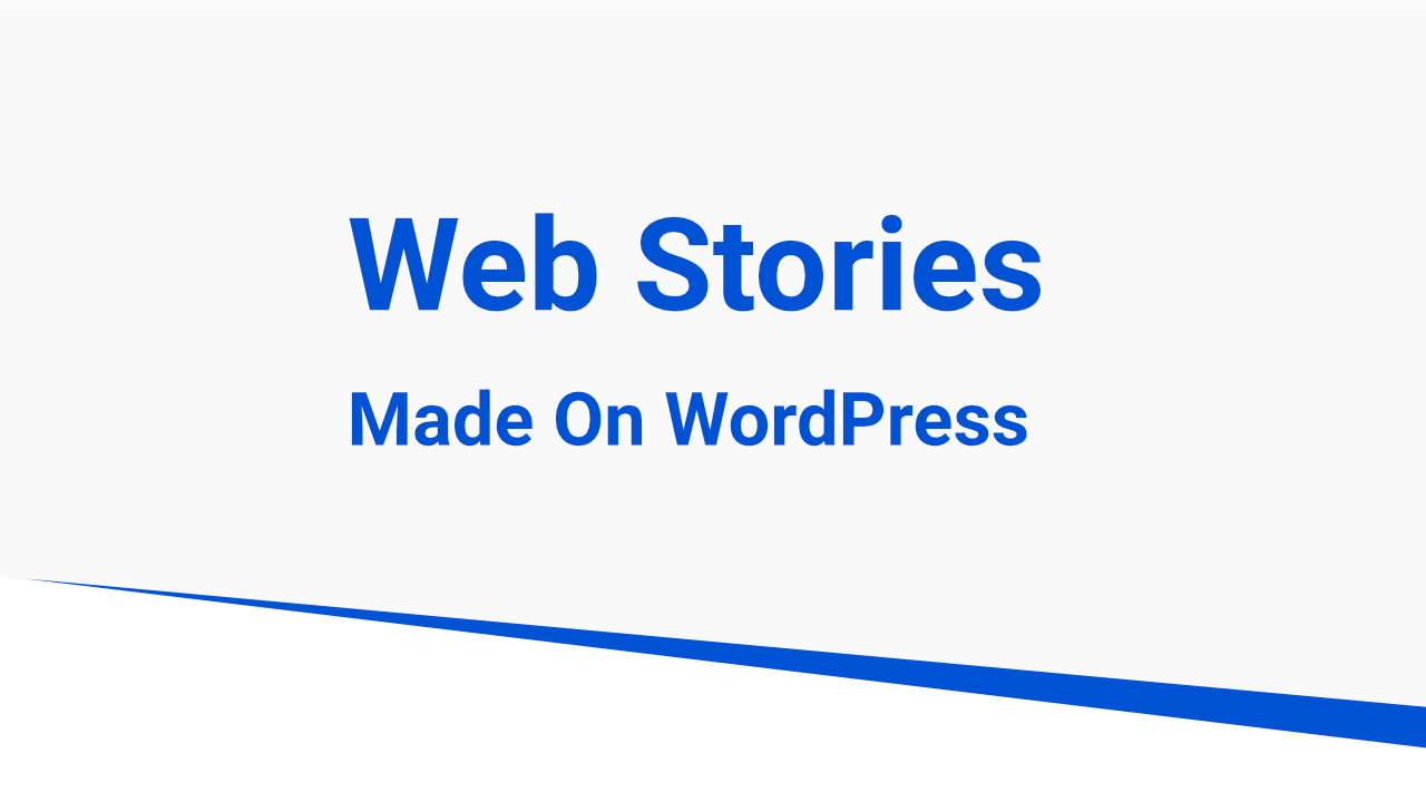 webstories on wordpress