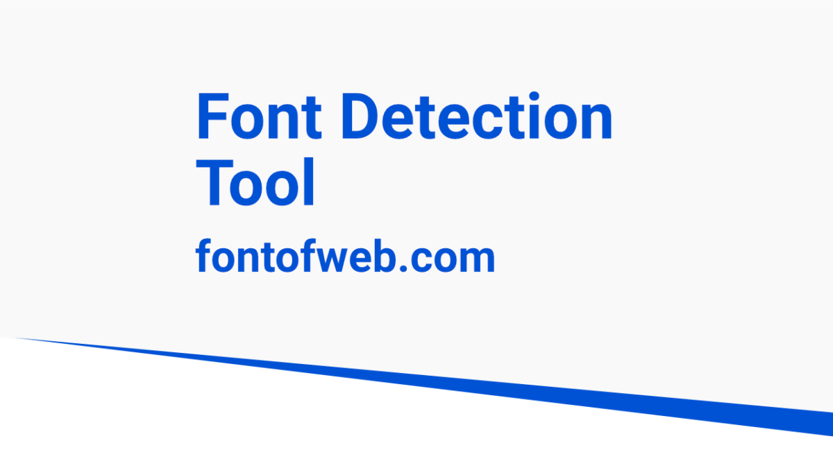 font detection tool