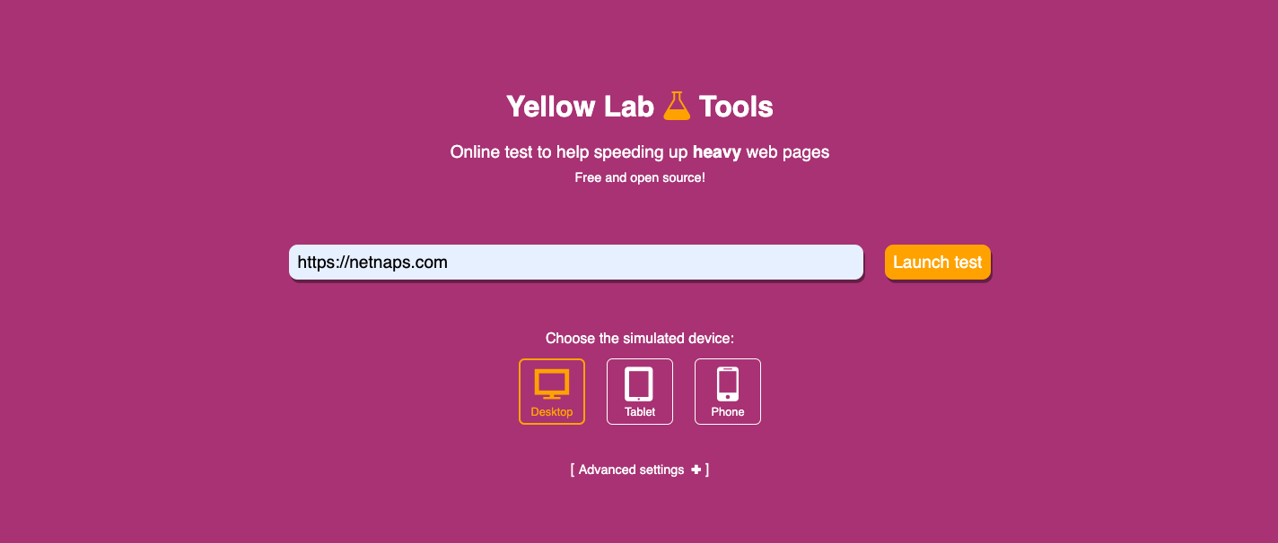 yellowlab tools